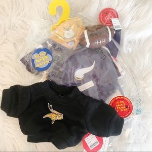Build a Bear Minnesota Vikings Outfit Clothes NEW